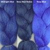 Color comparison from left to right: Midnight Blue, Navy Blue Redux, Navy Blue