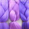 Color comparison from left to right: Lavish Purple, Orchid Purple, Medium Purple
