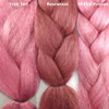 Color comparison from left to right: Fruit Tart, Rosewood, M.Pink Passion