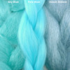 Color comparison from left to right: Sky Blue, Pale Blue, Ocean Breeze