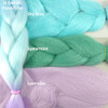 Color comparison: Light Denim/Aqua/Lilac on the left and Sky Blue, Spearmint, and Lavender on the right