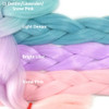 Color comparison: Light Denim/Lavender/Snow Pink on the left and Light Denim, Bright Lilac, and Snow Pink on the right