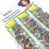 15mm Rhinestone Filigree Hair Cuffs, 6 Pieces, Rainbow