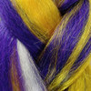 Color swatch for RastAfri Pre-Stretched Freed'm Silky Braid, D.PP/Gold/WHT