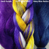 Color comparison from left to right: Dark Purple, D.PP/Gold/WHT, Navy Blue Redux