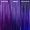 Color comparison from left to right: Dark Purple, Eggplant, Skyrise Ombré