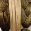 Color comparison from left to right: 10 Medium Brown, Sugar Blond, 12 Light Brown