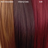 Color comparison from left to right: Hot Chocolate, Cherry Cola, 118 Blood Red