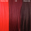Color comparison from left to right: Medium Red, 118 Blood Red, Cherry Cola