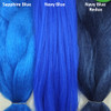 Color comparison from left to right: Sapphire Blue, Navy Blue, Navy Blue Redux