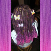 Courtney's daughter wearing braids in Nebula Ombré