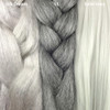 Color comparison from left to right: Silk Dream, 51 Grey, Solid Grey