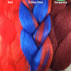 Color comparison from left to right: Red, S.Blue/Red, Burgundy