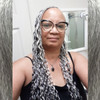 Donaliz wearing braids in 51 Grey and 60 Silver White