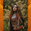 Morgan wearing synth dreads made from Amber kk jumbo braid