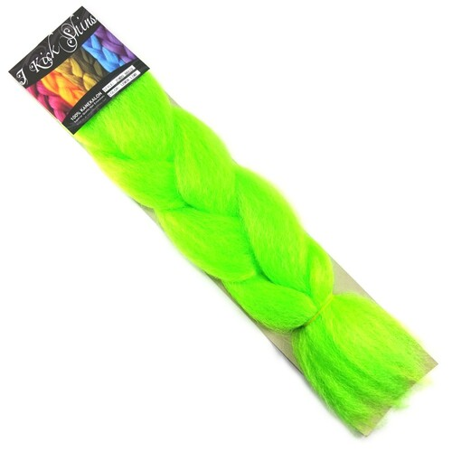 IKS Kanekalon Jumbo Braid, Neon Lemon Lime