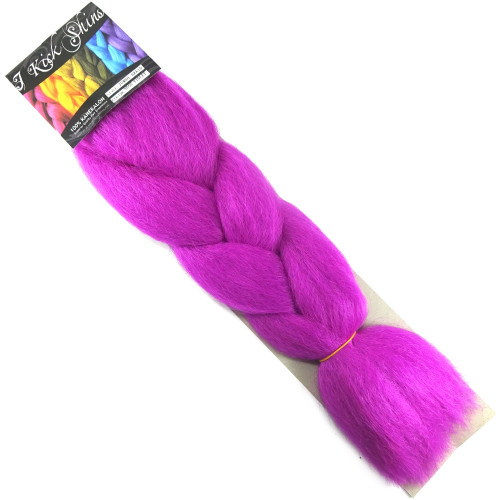 Kanekalon Jumbo Braid, Neon Violet (I Kick Shins)