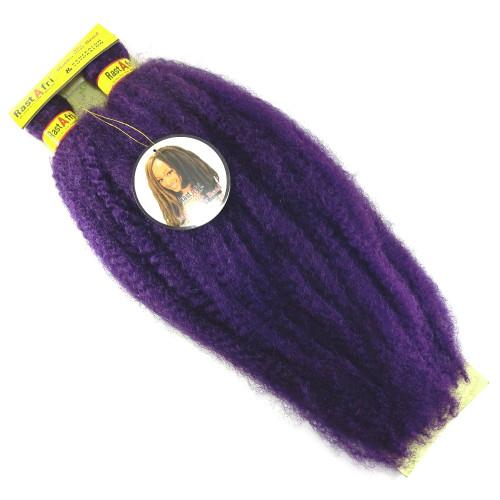 """RastAfri 19"""" Malibu Afro Kinky, Dark Purple"""