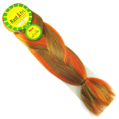Kanekalon Jumbo Braid, GSRB27 Pumpkin Mix (RastAfri Freed'm Silky)