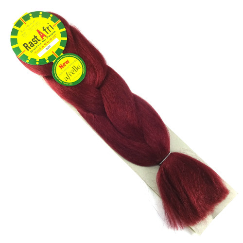 Kanekalon Jumbo Braid, Burgundy (RastAfri Freed'm Silky)