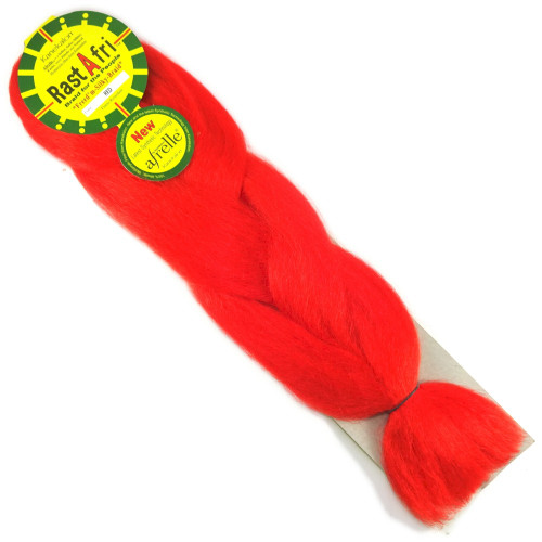 Kanekalon Jumbo Braid, Red (RastAfri Freed'm Silky)
