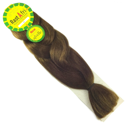 Kanekalon Jumbo Braid, 10 Medium Brown (RastAfri Freed'm Silky)