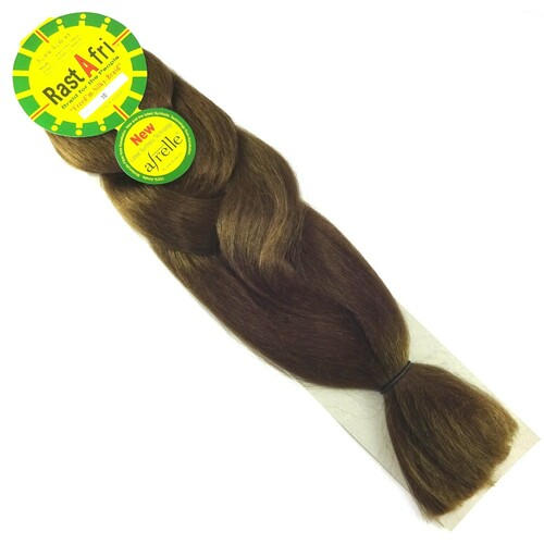 RastAfri Freed'm Silky Braid, 10 Medium Brown