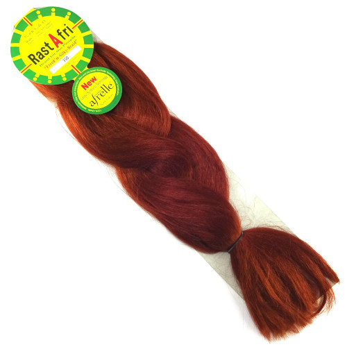 Kanekalon Jumbo Braid, 350 Rusty Red (RastAfri Freed'm Silky)