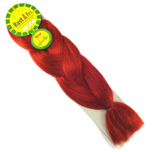 RastAfri Freed'm Silky Braid, Sweet Red