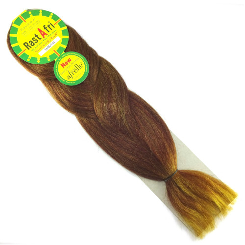 RastAfri Freed'm Silky Braid, T4/BG/144 Golden Berry Ombré