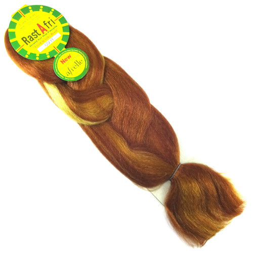 Kanekalon Jumbo Braid, GSF11 Golden Auburn Mix (RastAfri Freed'm Silky)