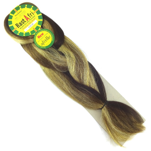 Kanekalon Jumbo Braid, GSF24 Dark Golden Brown Mix (RastAfri Freed'm Silky)