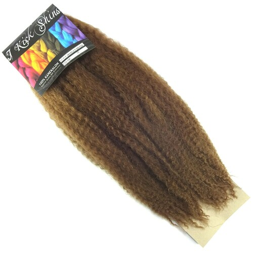 "IKS 17"" Crinkle Twist Braid, 12 Light Brown"