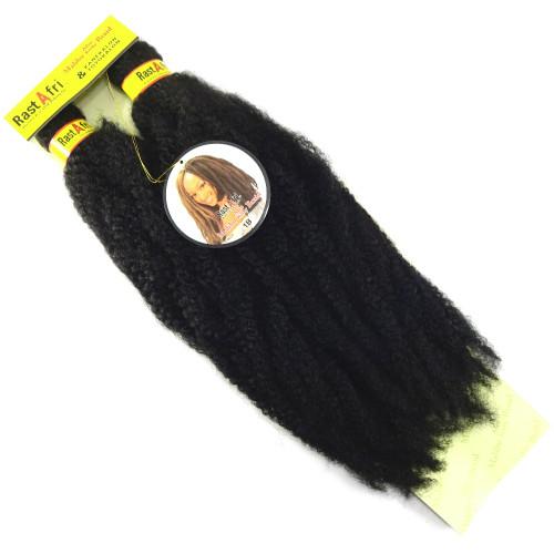 "RastAfri 19"" Malibu Afro Kinky, 1B Off Black"