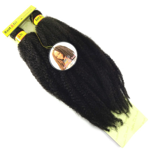 "RastAfri 19"" Malibu Afro Kinky, 2 Darkest Brown"