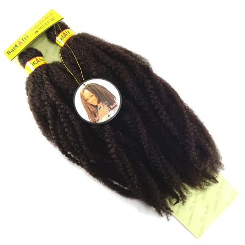 "RastAfri 19"" Malibu Afro Kinky, 4 Dark Brown"