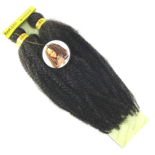 "RastAfri 19"" Malibu Afro Kinky, 280 Silvery Smoke"