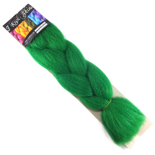 IKS Kanekalon Jumbo Braid, Emerald Green