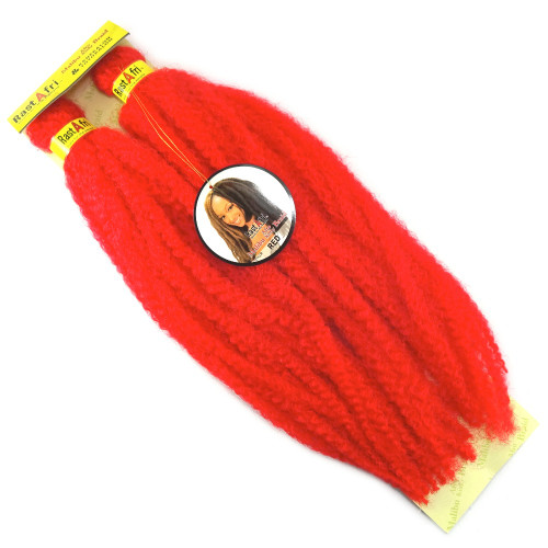 "19"" Marley Braid, Red (RastAfri)"