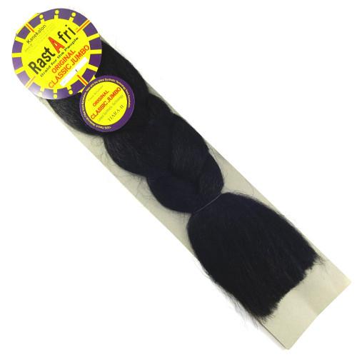 RastAfri Original Classic Jumbo Braid, 1 Black