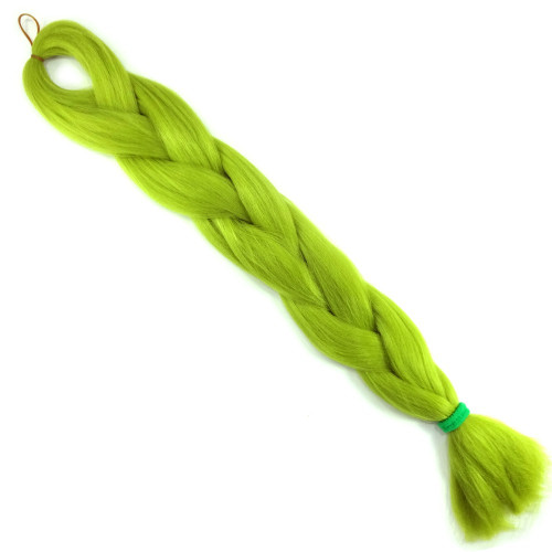 High Heat Kanekalon Braid, Moss Green