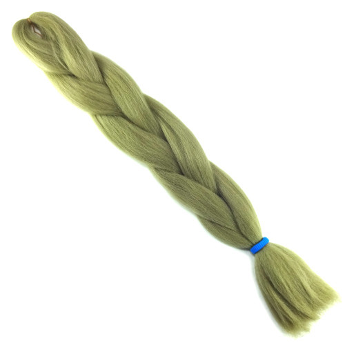 High Heat Kanekalon Braid, Light Olive Green