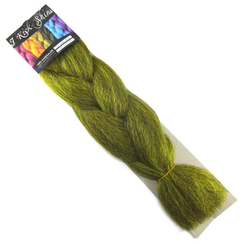 Kanekalon Jumbo Braid, 1B Off Black/Yellow Mix (I Kick Shins)