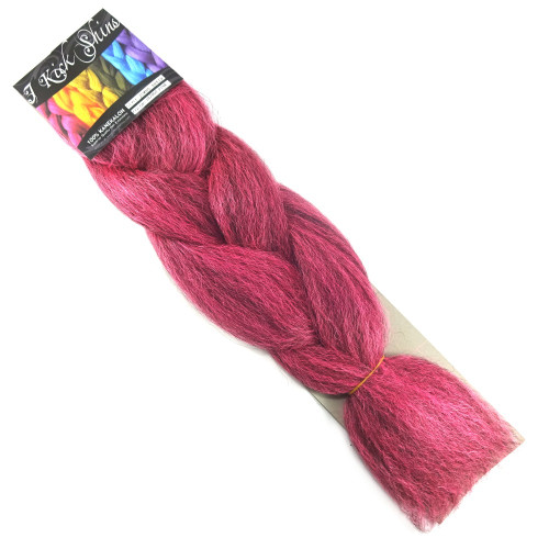 Kanekalon Jumbo Braid, 1B Off Black/Hot Pink Mix (I Kick Shins)
