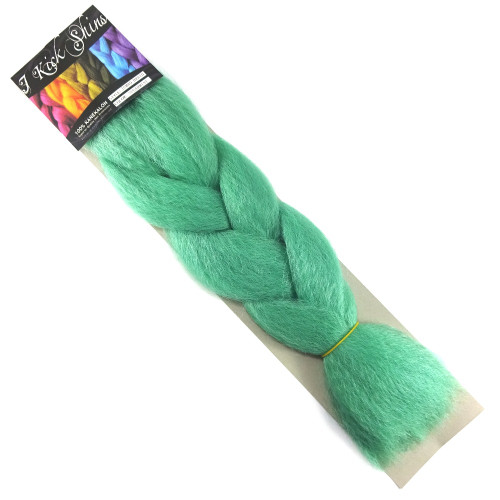 Kanekalon Jumbo Braid, Spearmint (I Kick Shins)