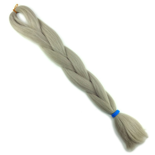 High Heat Kanekalon Braid, Silver Blond