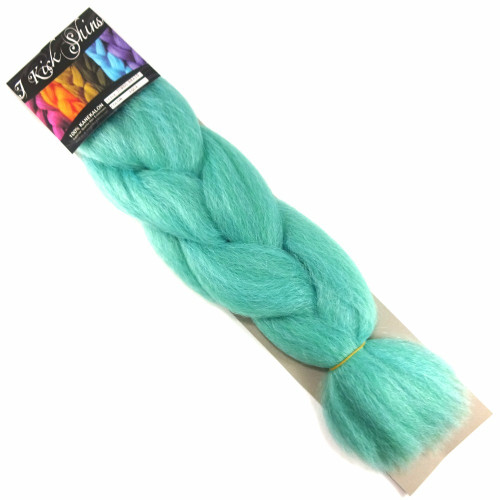Kanekalon Jumbo Braid, Aqua (I Kick Shins)