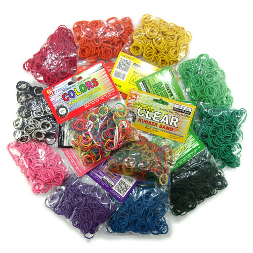 250 Rubber Bands, Assorted Colors (Beauty Town)