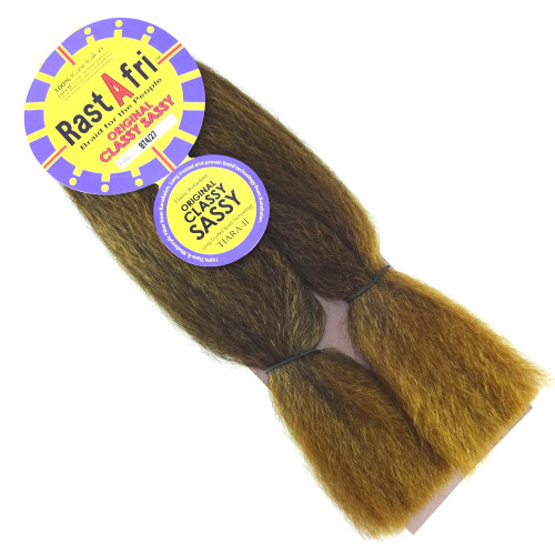 "RastAfri 14"" Original Classy Sassy, T4/27 Dark Brown with Strawberry Blond Tips"