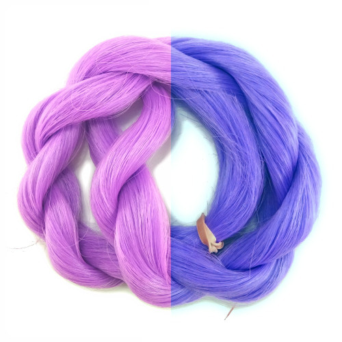 Blueberry thermal color change hair extensions
